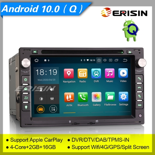Android 10.0 VW PASSAT SHARAN GOLF T5 Seat LEON TOLEDO Skoda Ford GALAXY PEUGEOT 307 Car Stereo ES5186V Car DVD Player Radio DAB+ OBD DVR BT TPMS