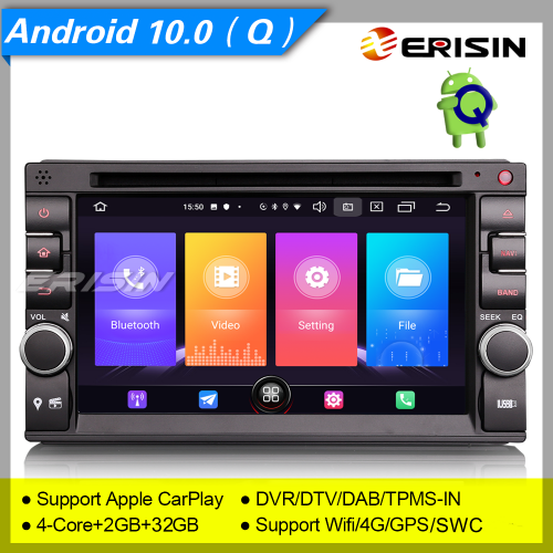 "2+32GB 4 Core 2 Din For Nissan Android 10 Car DVD Player Double DAB+ Radio Car Stereo Sat Navi DVR GPS CarPlay FM 4G TPMS 6.2"" Erisin ES2736U"