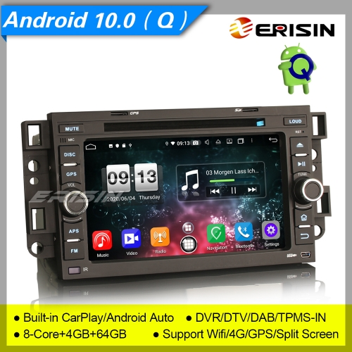 4+64G CarPlay Chevrolet Aveo Epica Captiva Car DVD Player Android 10.0 DSP DAB  Radio Sat Navi DSP TPMS PX5 DVR Erisin ES8776C