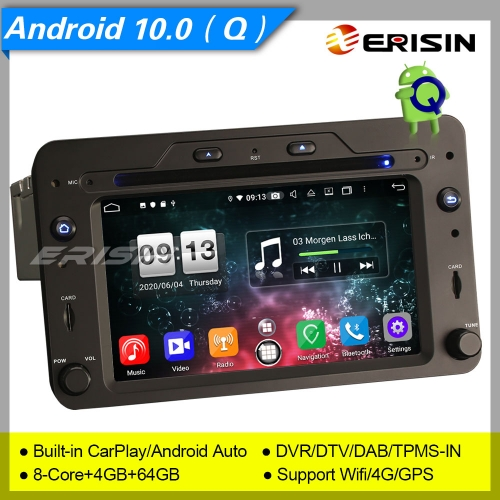 "4+64G CarPlay Alfa Romeo Spider Brera 159 Sportwagon Car DVD Player Android 10.0 DSP DAB+ Sat Navi PX5 DVR 6.2"" Erisin ES8720R"
