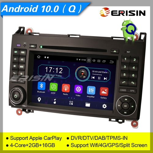 "2+16GB PX30 Android 10.0 Mercedes Benz A Class W169 B Class W245 Sprinter Viano Vito VW Crafter Car DVD Player Car Stereo Navi DAB+DVR  7"" Erisin ES59"