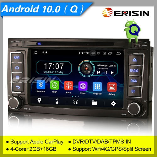 "2+16GB PX30 Android 10.0 VW TOUAREG T5 Multivan Car DVD Player Car Stereo Sat Navi DAB+4G DVR TPMS BT OBD 7"" Erisin ES5956T"