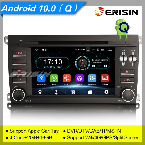 "2+16GB PX30 Android 10.0 Porsche Cayenne 2003-2010 Car DVD Player Car Stereo Sat Navi DAB+ Radio DVR TPMS GPS 7"" Erisin ES5914C"