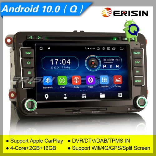 "2+16GB PX30 Android 10.0 VW SEAT SKODA Golf Jetta Passat Touran Altea Fabia Car DVD Player Car Stereo Sat Navi DAB+4G DVR TPMS BT 7"" Erisin ES5948V"
