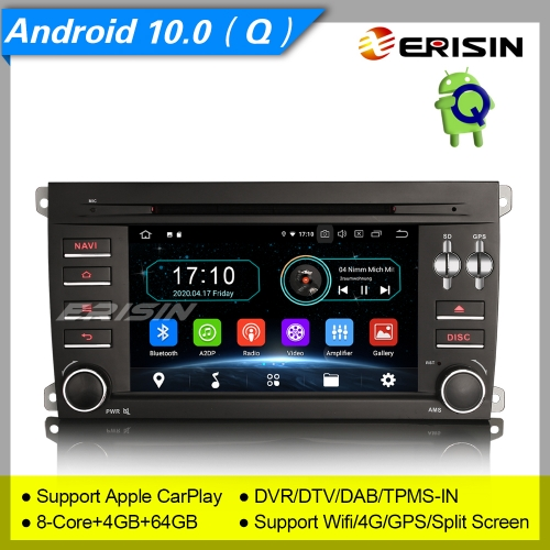 "4+64GB PX5 8 Core  Android 10.0 Porsche Cayenne 2003-2010 Car DVD Player Car Stereo Sat Navi DAB+ Radio DVR TPMS GPS 7"" Erisin ES6914C"