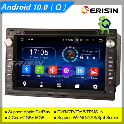 "2+16GB PX30 Android 10.0 VW PASSAT SHARAN GOLF T5 Seat LEON TOLEDO Skoda PEUGEOT 307 Car Stereo Car DVD Player Radio DAB+ DVR BT Erisin 7"" ES5986V"