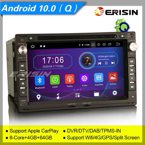 "4+64GB PX5 Android 10.0 VW PASSAT SHARAN GOLF T5 Seat LEON TOLEDO Skoda PEUGEOT 307 Car Stereo Car DVD Player Radio DAB+ DVR BT Erisin 7"" ES6986V"