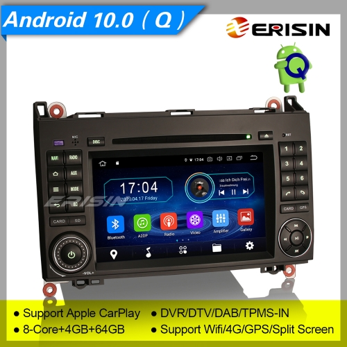 "4+64GB PX5 8 Core  Android 10.0 Mercedes Benz A Class W169 B Class W245 Sprinter Viano Vito VW Crafter Car DVD Player Stereo GPS DAB+DVR 7"" Erisin ES6"