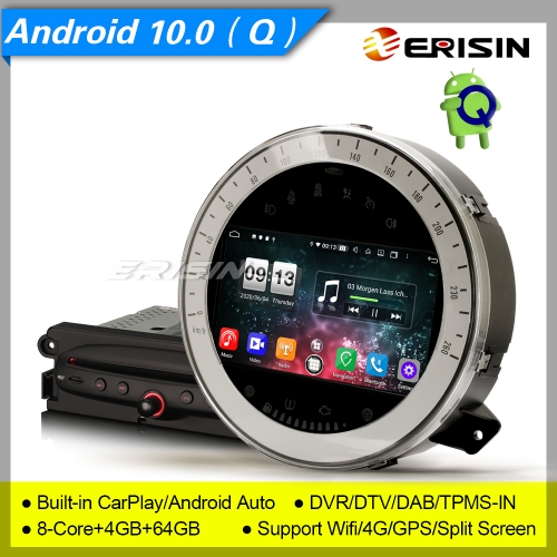 "PX5 4+64G 2 UI Android 10 Car DVD Player Stereo For BMW Mini Cooper 2006-2013 DAB+DSP GPS 4G 7"" Erisin ES8711M"