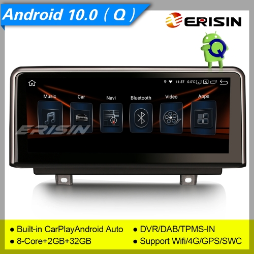 "2+32GB PX5 8-Core CarPlay Android 10.0 Car Stereo  BMW 1er-F20/F21, 3er-F30/F31/F34, 4er-F32/F33/F36, F80/F82 NBT SWC DAB+ IPS 10.25"" Erisin ES2830B"